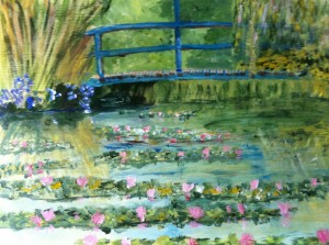 Jeff's painting of Monet's Garden